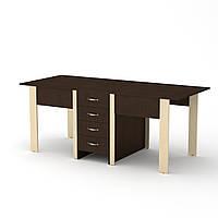 Стол книжка 3 венге комби Компанит (190х53х75 см)