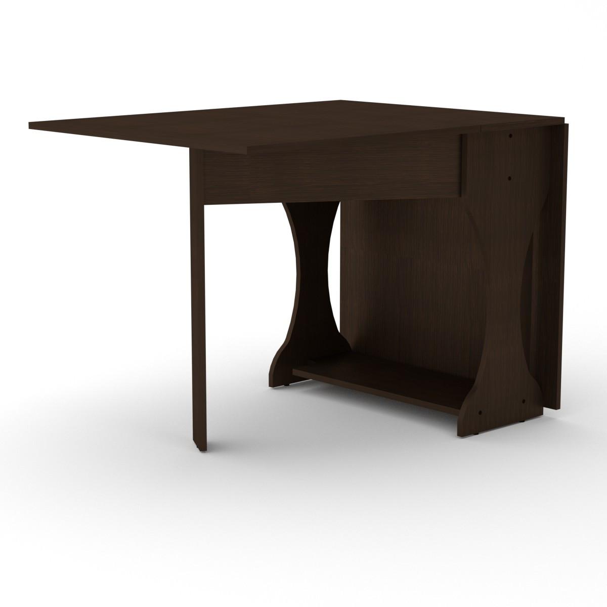 Стол книжка 4 венге темный Компанит (170х33х74 см)
