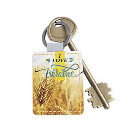 Брелок 1.0 Fisher Gifts 11 I love Ukraine - пшеница (эко-кожа)