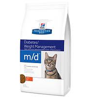 Корм для кошек для лечения сахарного диабета и ожирения Hills PD Feline m/d 1,5 кг.