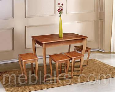 Стол деревянный «Смарт» для кухни (серия Смарт)  Микс Мебель