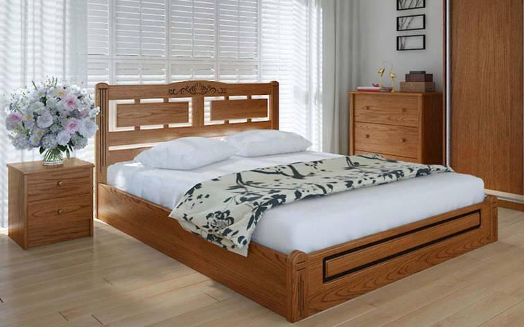 Деревянная кровать Пальмира люкс с механизмом 140х190 см ТМ Meblikoff, фото 2