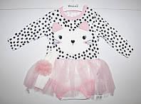 Боди-платья для девочек р-р 3-9 месяцев