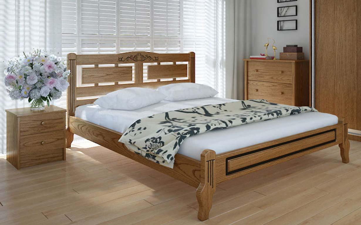 Деревянная кровать Пальмира люкс 140х190 см ТМ Meblikoff
