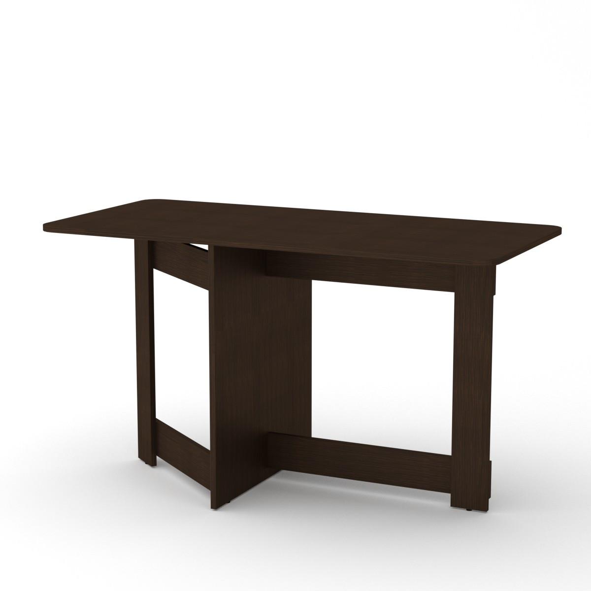 Стол книжка 6 венге темный Компанит (128х60х72 см)