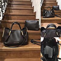 Женская стильная сумка реплика Майкл Корс коричневый с косметичкой