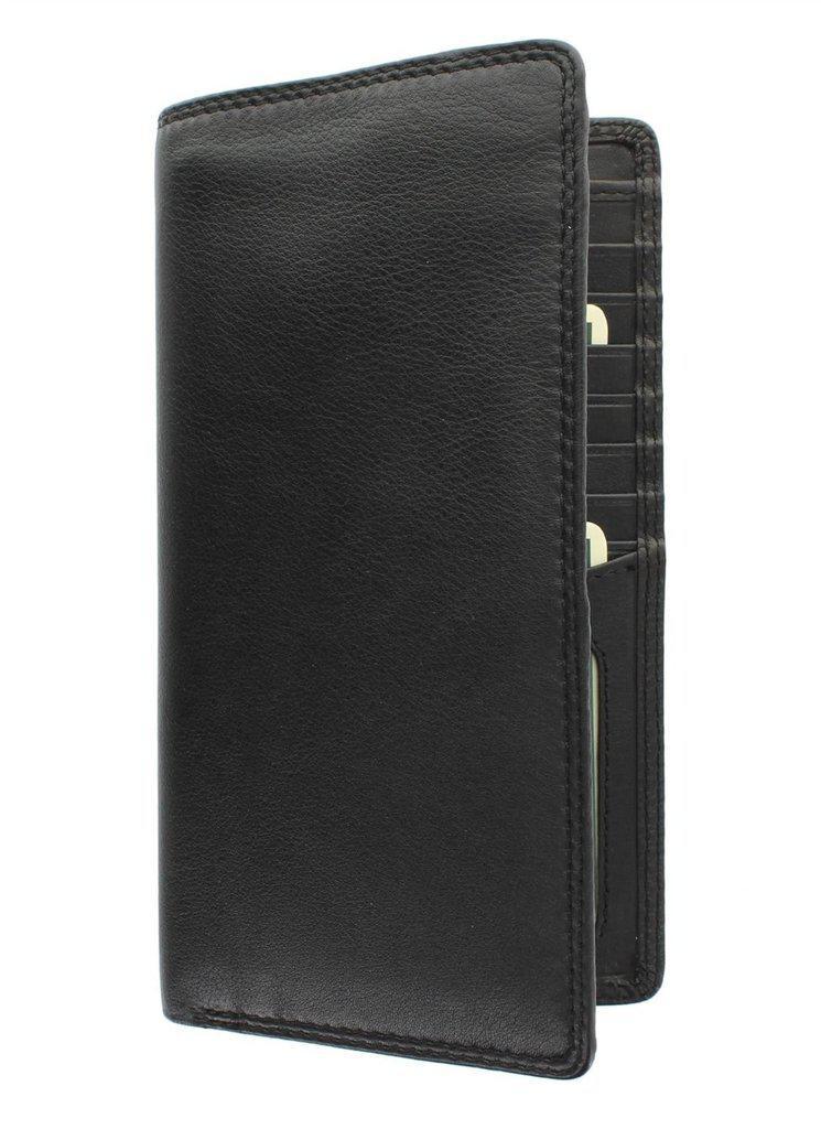 Мужской бумажник кожаный черный Visconti HT-12 Black