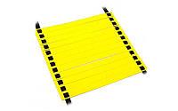 Координационная лестница дорожка для тренировки скорости 10м (20 переклад) C-4607 (желтый)