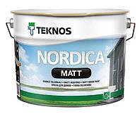 Краска акриловая TEKNOS NORDICA MATT для древесины (белая) 9 л