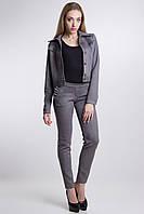 Стильний замшевий костюм BALI з застібкою на гудзики джинсові, фото 1