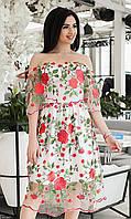 Платье 8512567 белый с 42 по 52 размер Весна 2018 Украина МШ