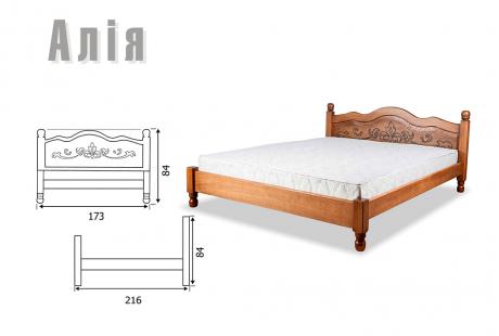 Ліжко односпальне з натурального дерева в спальню/дитячу Алія 90*200 Sovinion