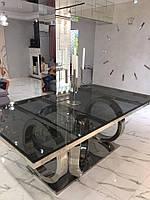 Стол обеденный Night Italy, 2100х1100х750 мм. из тонированного стекла