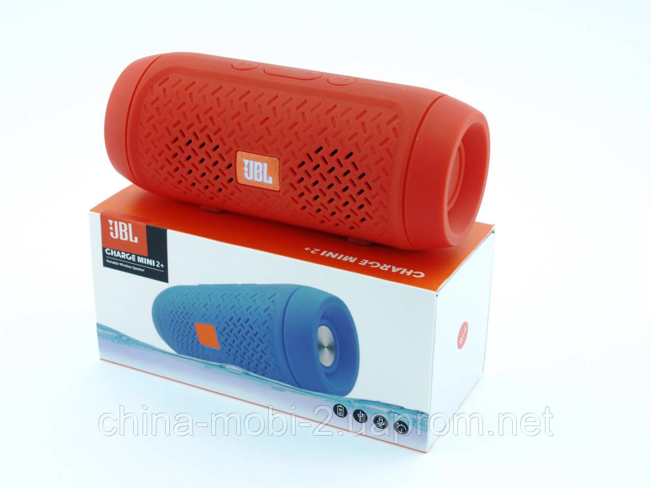 JBL Charge 2+ mini E2+ J016 3W копия, портативная колонка Bluetooth FM MP3, красная
