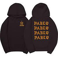 Худи Kanye West - I Feel Like Pablo черное с логотипом, унисекс (мужское,женское,детское)