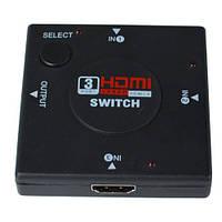 Соединитель HDMI (3 гнезда HDMI - 1 гнездо HDMI) (GC-301N)