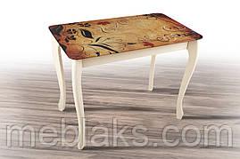 Стол деревянный «Смарт» для кухни со стеклом (серия Смарт)