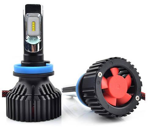 Светодиодная лампа T8 цоколь H11, GSP, 6500К, 8000 lm 30W, 9-32В, фото 2