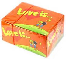 Жвачки love is. Апельсин-Ананас
