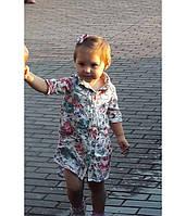 Платье-рубашка на девочку, короткий рукав OLDNAVY