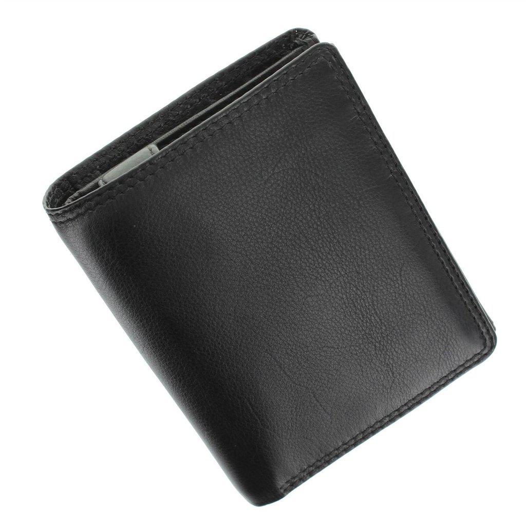 Мужской кошелек кожаный черный Visconti HT-11/R Black
