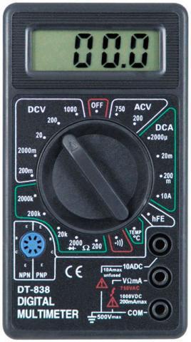 Цифровой Профессиональный Мультиметр DT 838