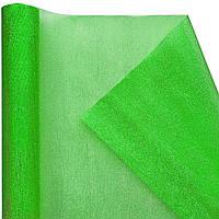 Органза snow, зеленая (47 см х 7 м)