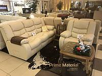 """Комплект мягкой мебели """"Mark"""". Кожаный диван и кресло"""