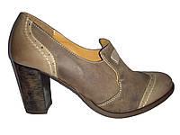 Кожаные польские женские стильные модные закрытые туфли 37 Aga 740e276a683c1