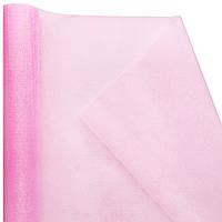 Органза snow, розовая перламутр (47 см х 7 м)