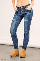Женские стильные синие джинсы