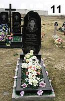 Одинарний простий пам'ятник на могилу із граніту