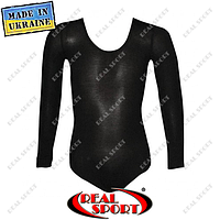 Купальник для танцев и гимнастики классический черный L (рост 134 - 146 см), фото 1