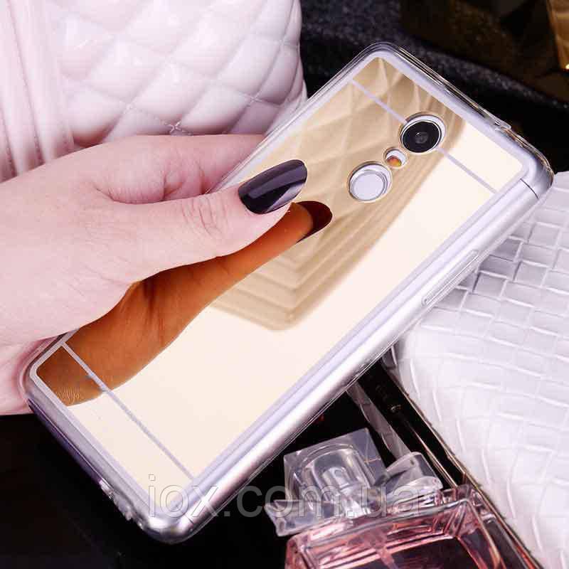 Золотистый зеркальный чехол для Xiaomi Redmi Note 4X