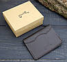 Обложка для паспорта из натуральной кожи (282009) - шоколадная