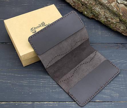 Обложка для паспорта из натуральной кожи (282009) - шоколадная, фото 2