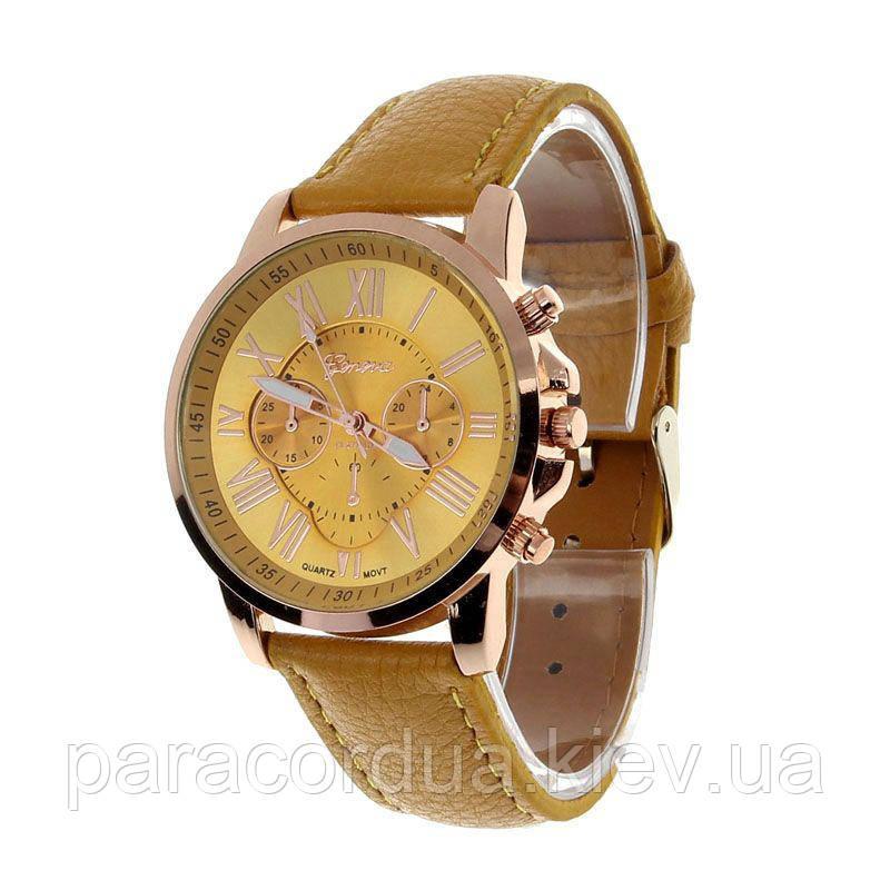 Мужские кварцевые часы GENEVA желтые