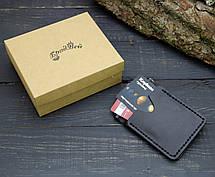 Кошелек БрадВей кожаный с зажимом для денег чёрный (281002), фото 3