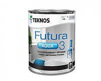 Грунт алкидный TEKNOS FUTURA AQUA 3 водоразбавляемый (белый глубокоматовый) 0,9 л