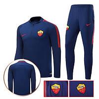 Спортивный костюм Рома, сезон 17-18 (темно-синий)