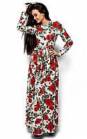 (S, M) Довге біле плаття в квітку Tehas