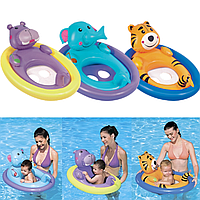 Детский надувной круг-плотик для плавания «Животные»   «Bestway»