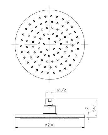 Верхній душ Imprese S200B, фото 2