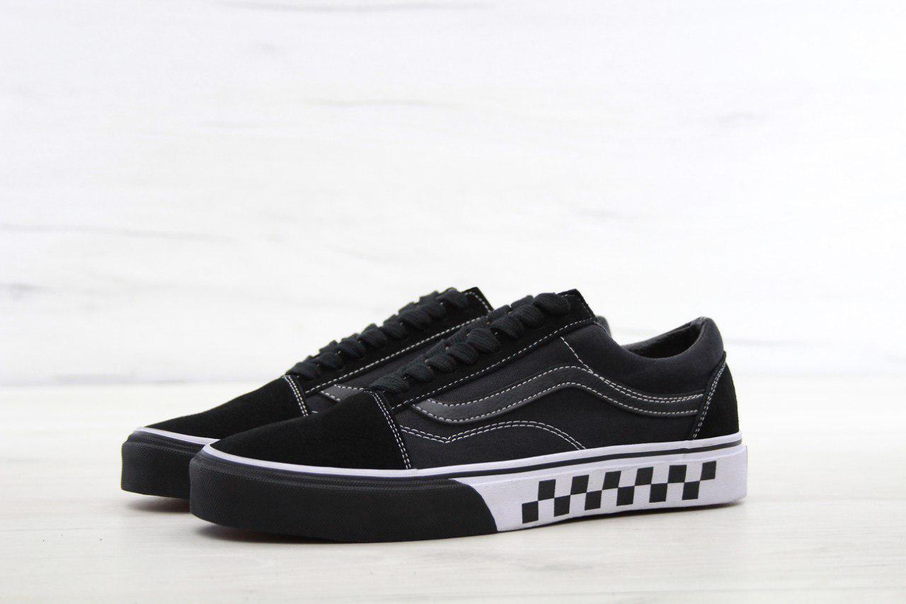 Кеды Vans Old Skool (в стиле Ванс Олд Скул ) черные с рисунком -  Мультибрендовый a0b252b5002