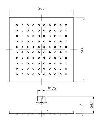 Верхній душ Imprese SQ200B, фото 2