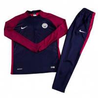 Спортивный костюм Манчестер Сити,сезон 17-18 (фиолет рукав, синяя)