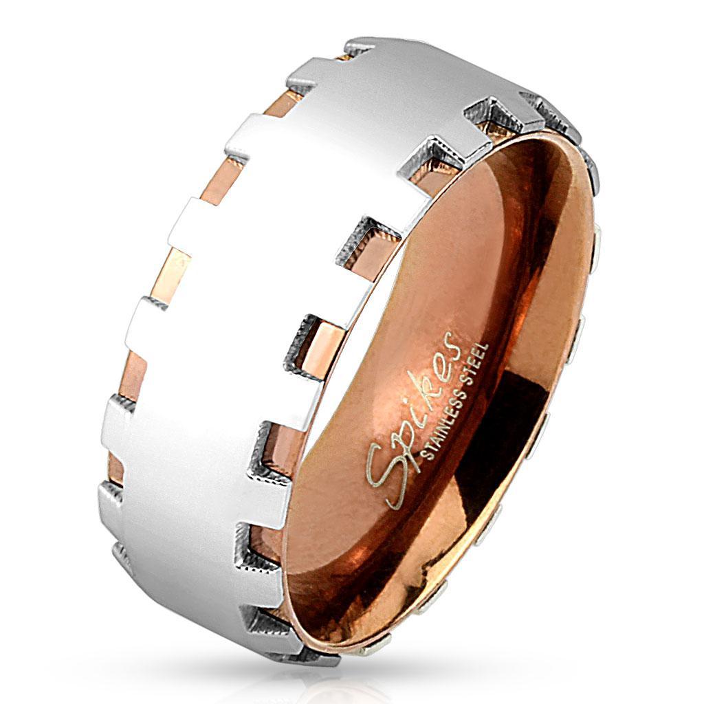 Кольцо с шестеренчатой гранью Spikes