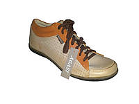Кожаные польские женские бежевые стильные модные спортивные туфли 36 Agasi