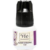 Клей СТРОНГ для наращивания ресниц Vie Strong, 5 ml, время фиксации 1-2 секунды