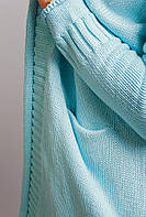 Кардиган женский трикотажный 308K016 (Голубой)